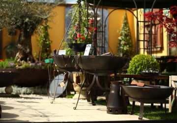 The Wilstone Kadai firebowls on display at Chelsea Flower Show 2016
